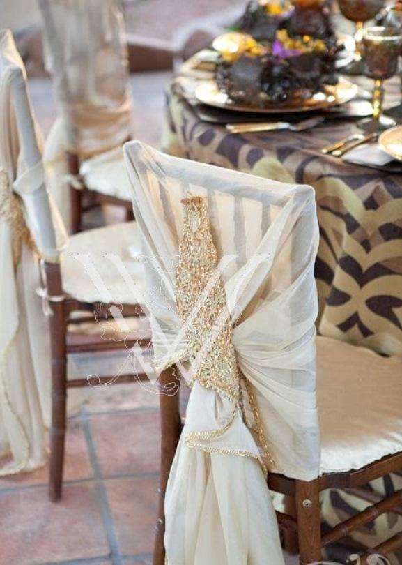 Ruffle Chair Sash Wedding Archives  Weddings Romantique