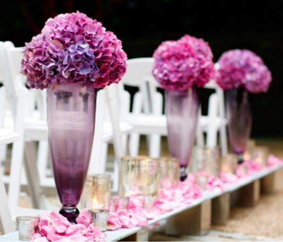purple lavender hot pink aisle decorations Archives