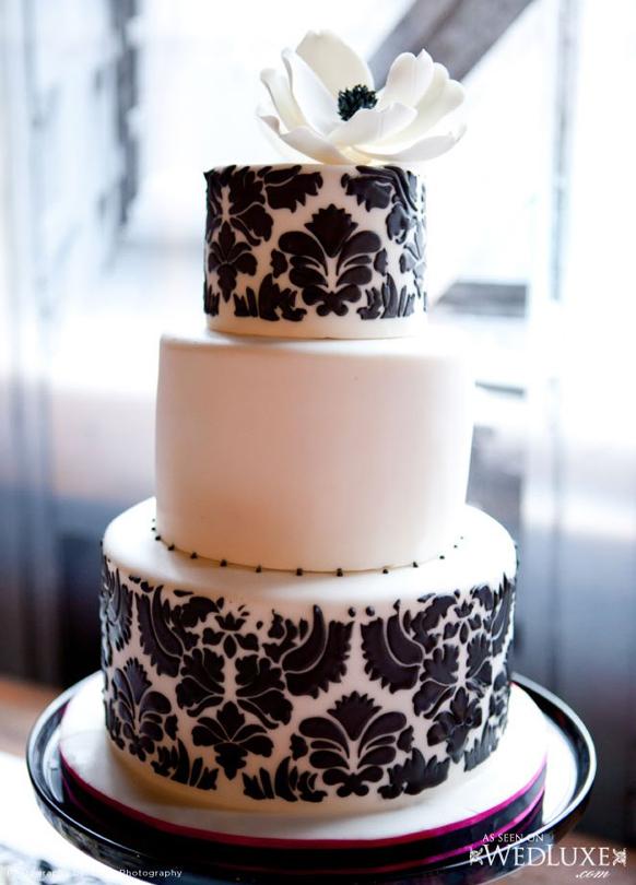 Luxury White and Black Wedding Cake Archives  Weddings