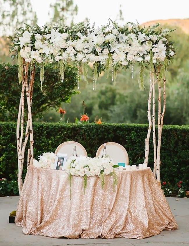 Sweetheart Table Ideas Outdoor Garden Wedding