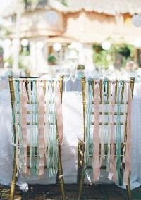 Tiffany Blue and Pink Ribbon Wedding Chair Decorating ...