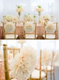 Sequin Gold Wedding Chair Decorating Ideas Archives ...