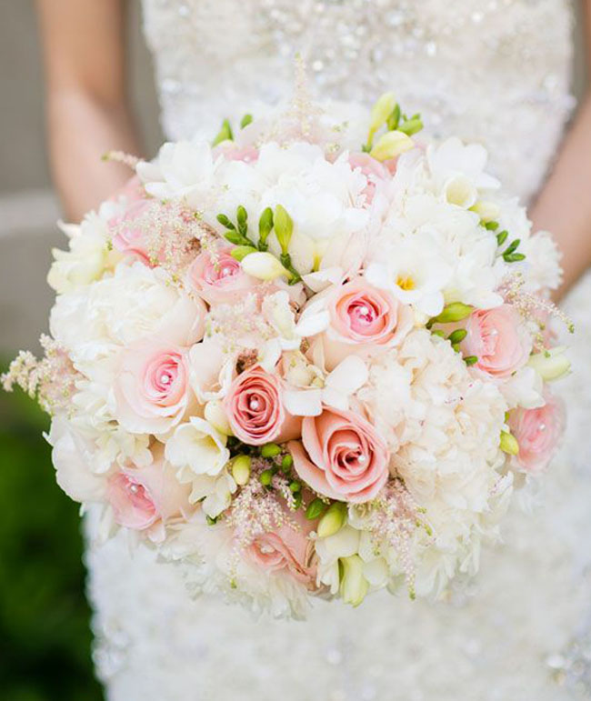 Blush Pink Bridal Bouquet _Brian Hatton Photography