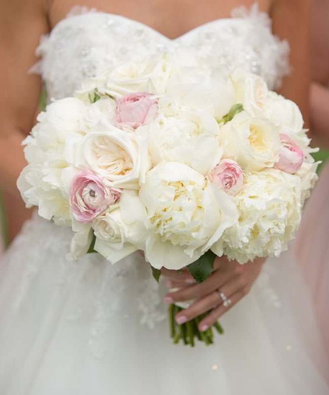 Blush Pink Wedding Bouquet - Photography Aaron Watson