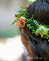 The floral crown provided by Lucy's Informal Flowers