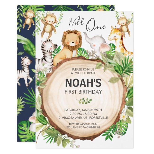 boy 1st birthday invitation templates