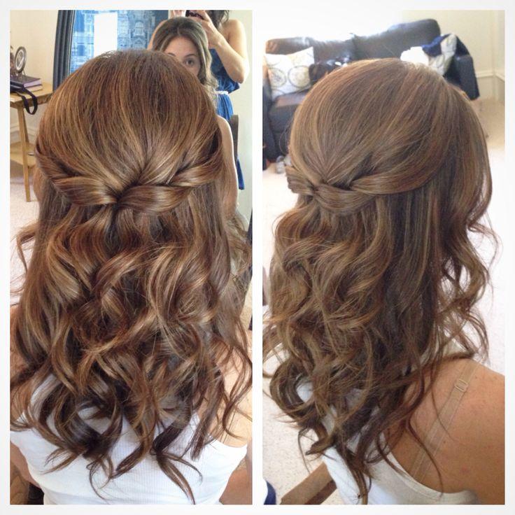 Wedding Hairstyle For Long Hair : Half up half down hair