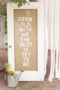 Wedding Quotes : 35 Rustic Old Door Wedding Decor Ideas