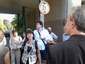 Gerhild Komander an der Ecke Damarastraße