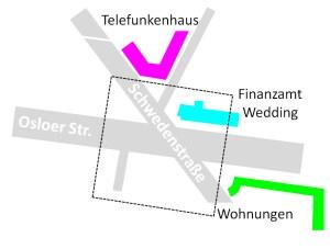 Die Kreuzung am U-Bahnhof Osloer Straße