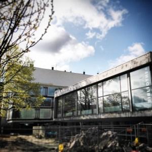 Schiller Bibliothek Baustelle