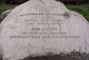 Gedenkstein Müllerstraße
