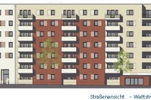 degewo baut in der Wattstraße - Grafik: Planungsunterlage degewo