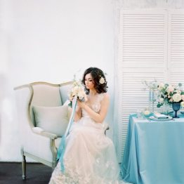 Акварельная весна: стилизованная съемка образа невесты