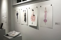 """Lynn Blake, Drawings for a Book """"Fashion Design, Referenced"""", watercolor on paper"""