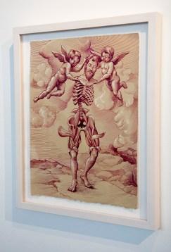"Saul Chernik, ""Sleepwalker"", ink, watercolor, and opaque white on paper"