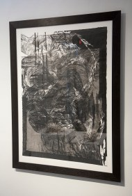 "Wayne Kleppe, ""Genesis Composition, No. 9"", multi-block woodcut"