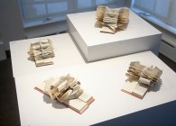 Wayne Kleppe, altered book: cut, formed and folded