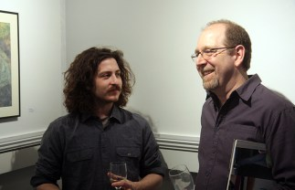 Artist Patrick Casey and Seth Read.