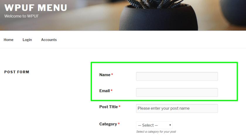 Frontend- guest blogging using WordPress