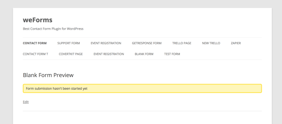Pending message of a scheduled form