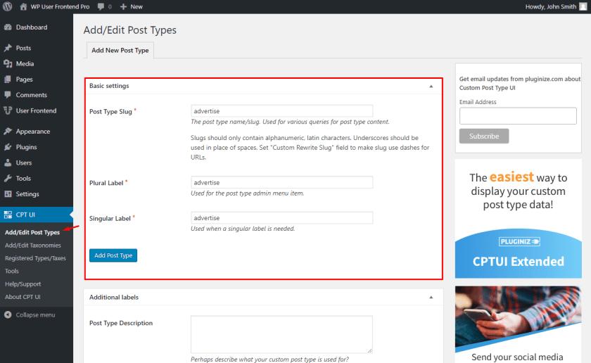 WordPress classified ads