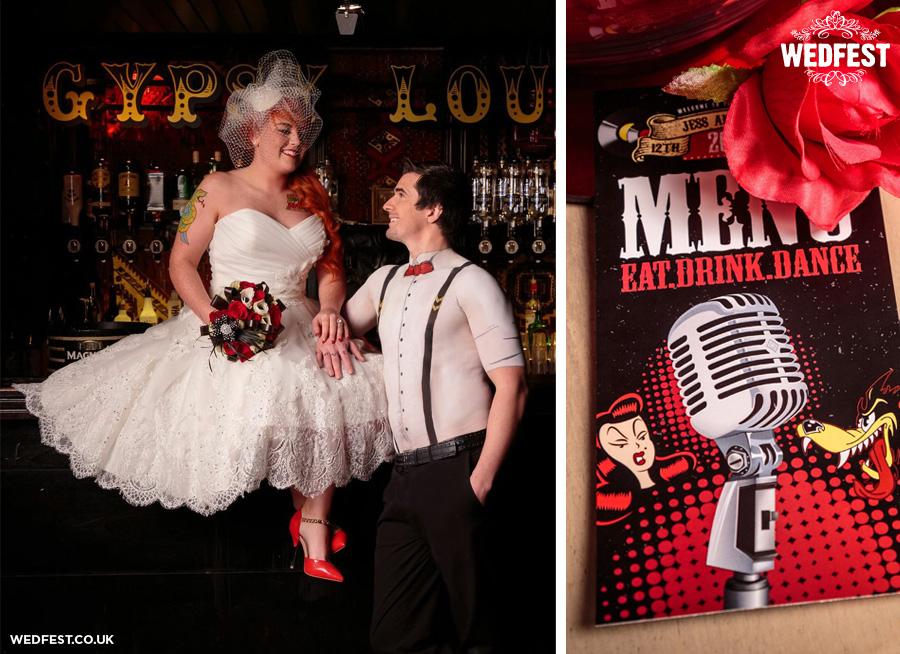Rockabilly Themed Wedding Stationery
