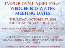 Wedgefield Water Meeting Dates