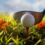 fall golf with club
