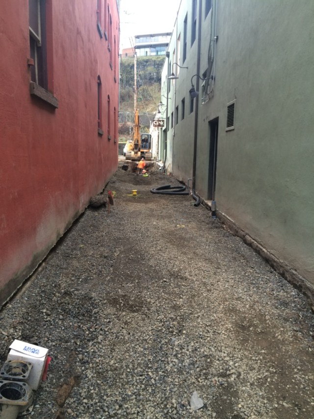 Prepping for Concrete in the 700 Block