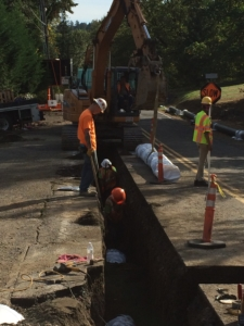 "Installing 12"" Mainline Ductile Iron Water Pipe"