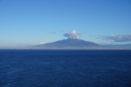 Vesuvius emerges from the clouds