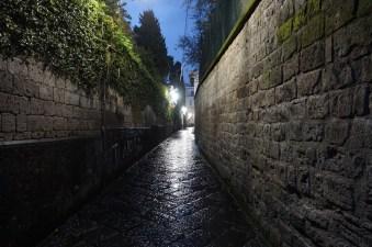 Empty, wet streets