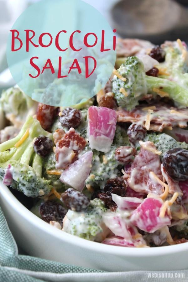 Broccoli Salad with Raisins and Nuts