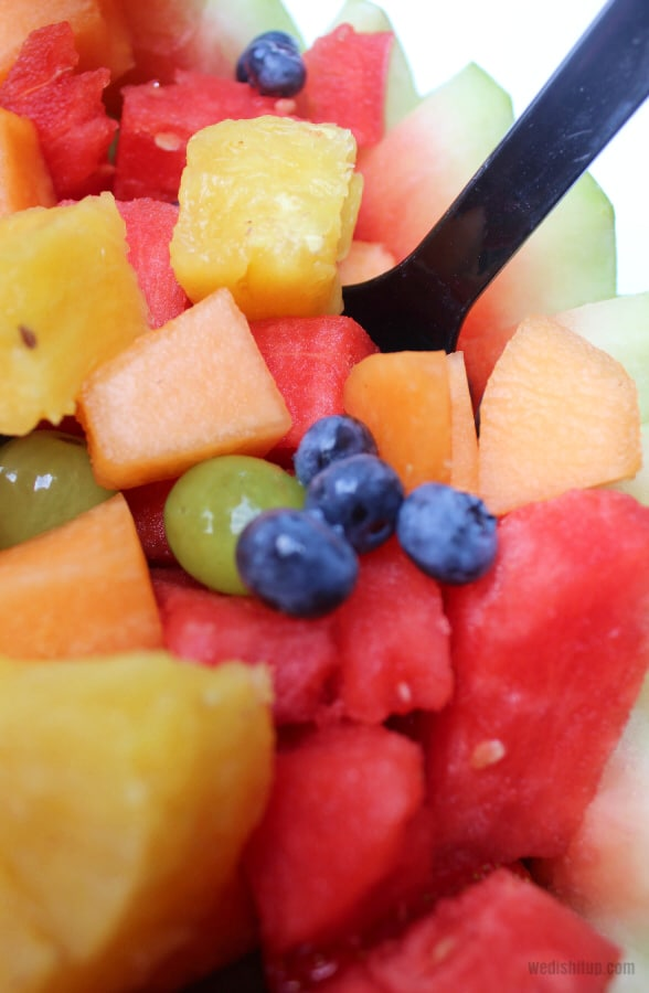 Fruit with spoon