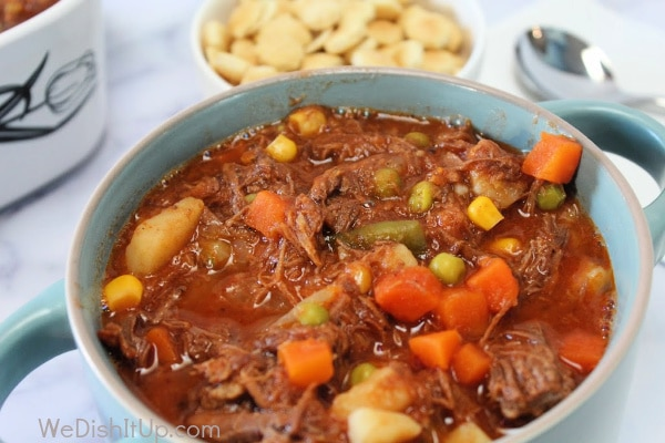 Vegetable Beef Soup in Bowl