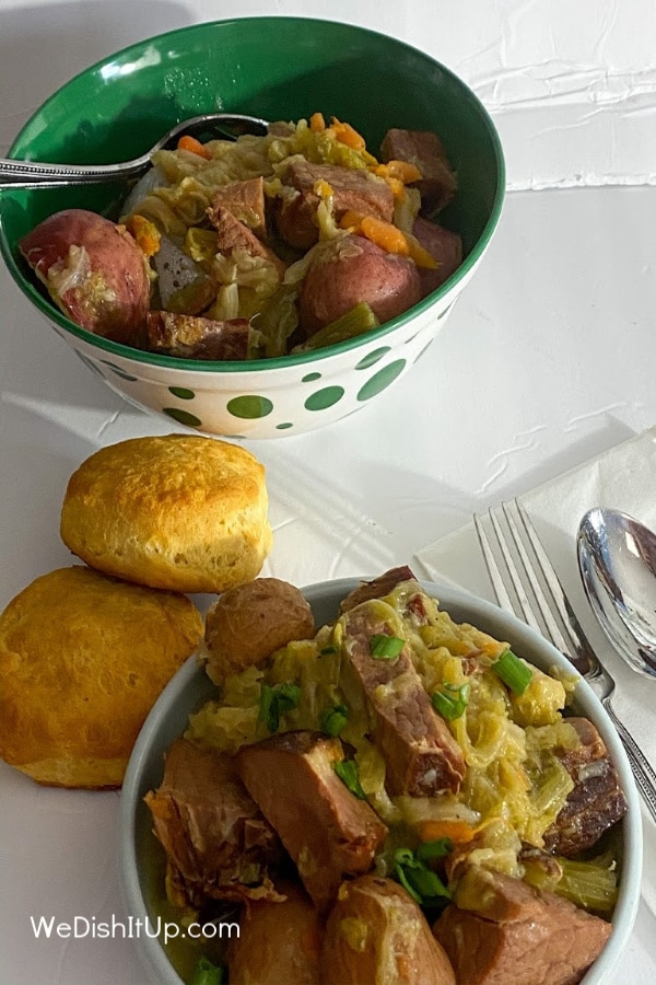 Ham and Cabbage In Bowl