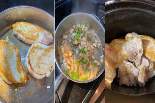 Chicken Cacciatore In Process