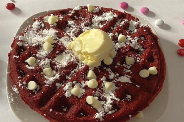 ReRRed Velvet Valentines Waffles