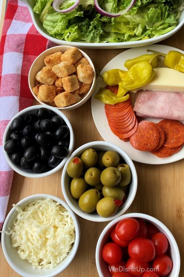 Ingredients for Antipasto