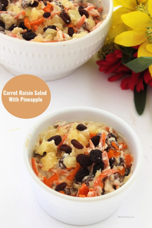Carrot Salad with Text
