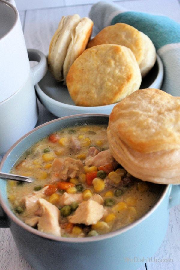 Slow- Cooker Chicken Pot Pie