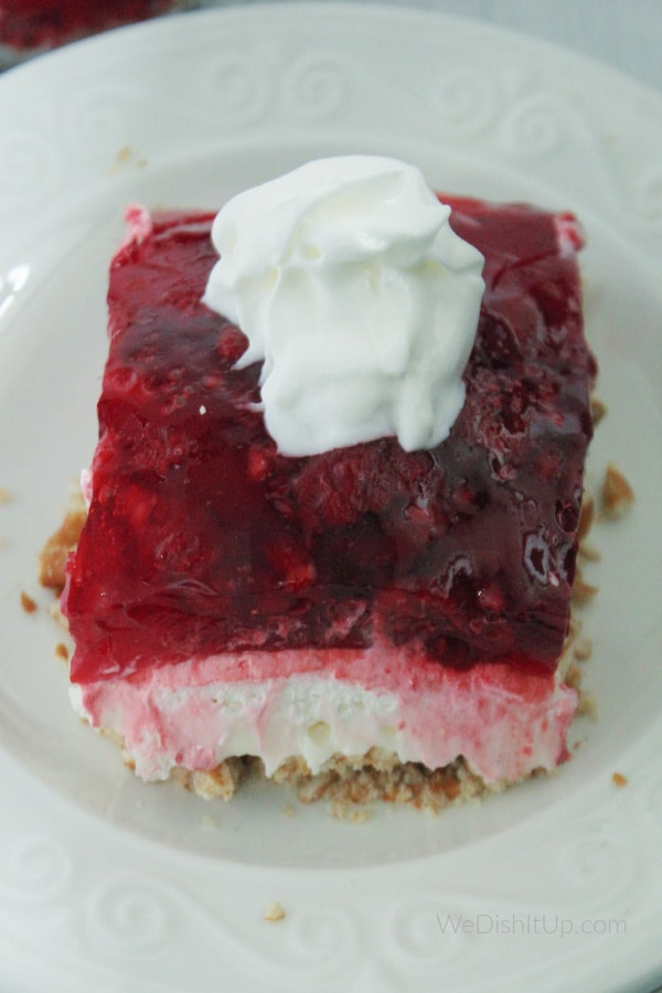 Pretzel Raspberry Jell-O Salad