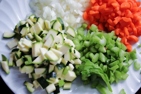 Chopped Veggies for Soup
