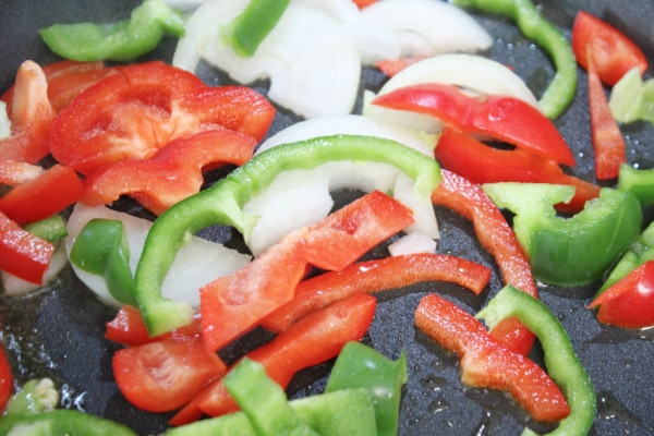 Onions and Peppers Cooking