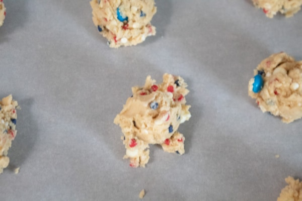Cookies going in the Oven