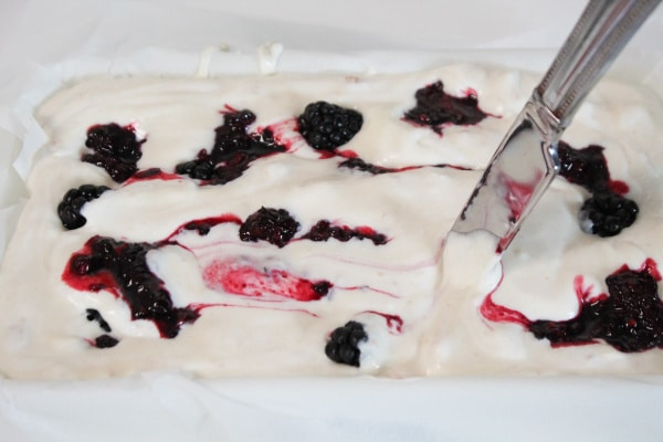 Swirling Berries with Knife