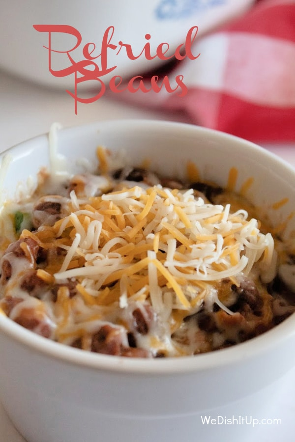 Refried Beans in Dish