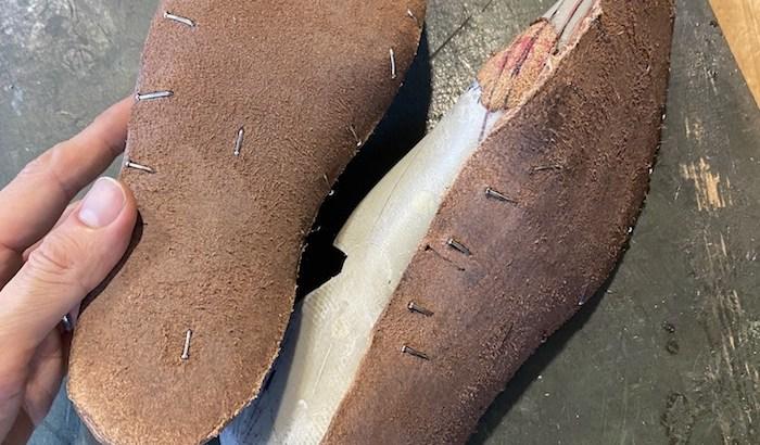 木型から作る靴づくり第63回_底付け開始インソールの作成
