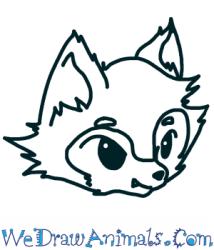 wolf head draw easy tutorial split steps